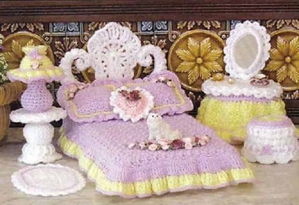 Вязаная мебель для кукол