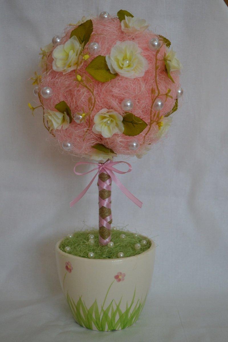 Цветочное дерево своими рук