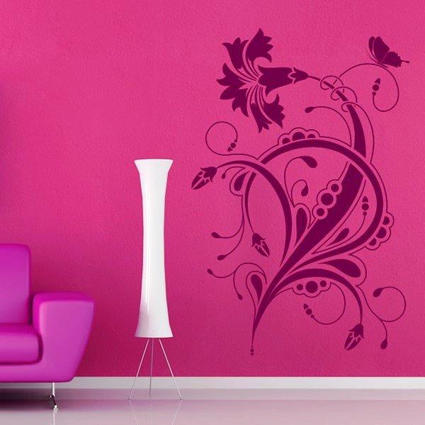 Как сделать рисунок на стене с помощью трафарета