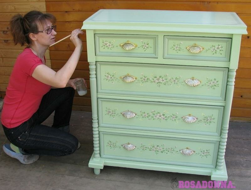 Декупаж старой кровати для девочки своими руками 61