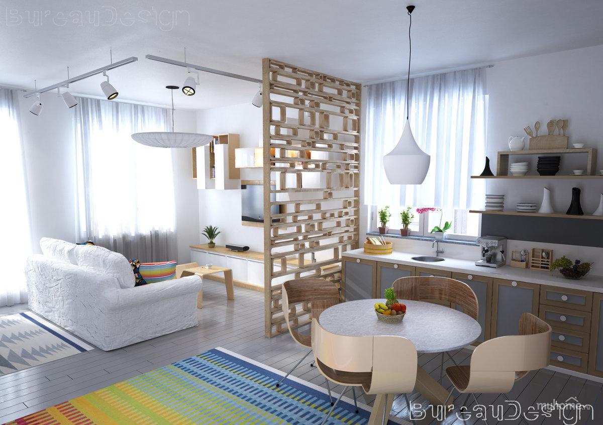 Дизайн в скандинавском стиле в гостиной фото