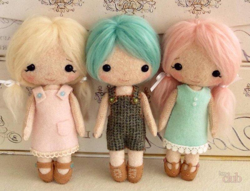 Куколки из ткани без шитья
