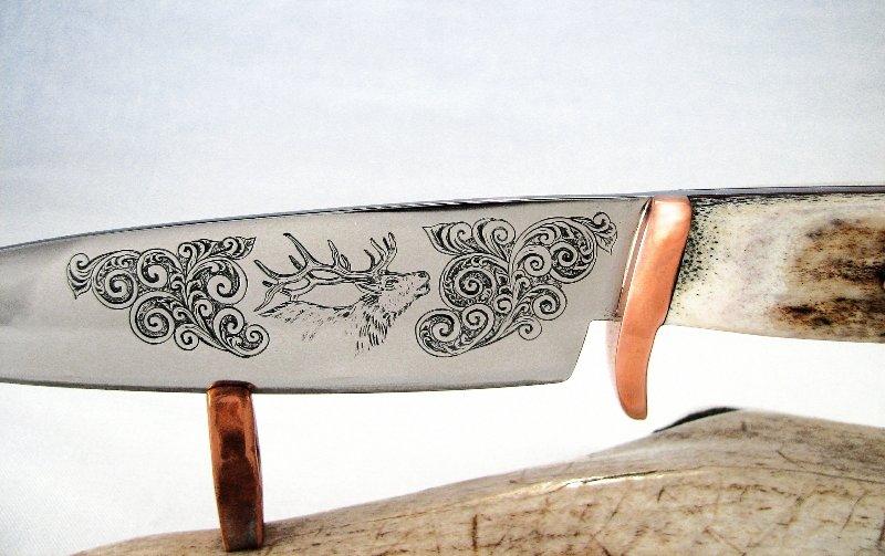 Рисунок на нож своими руками