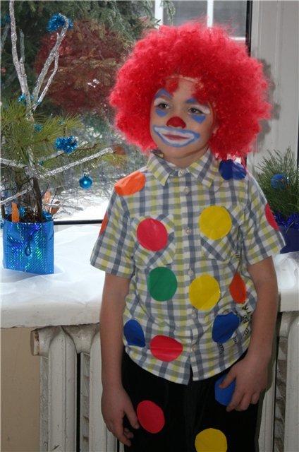 Костюм клоун детский своими руками