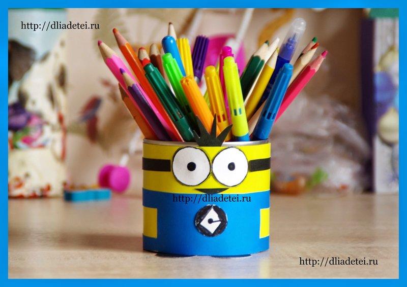 Как сделать баночку для карандашей
