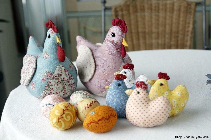 Курицу из ткани своими руками