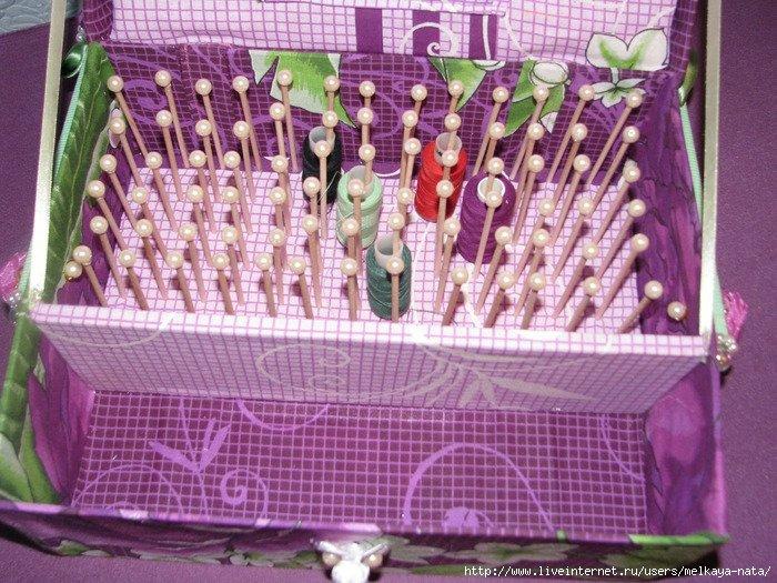 Шкатулки для ниток иголок своими руками
