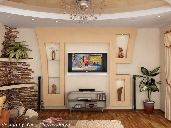Как сделать нишу на стене под телевизор 160