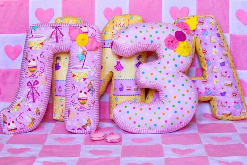Как сшить подушку с буквами своими руками