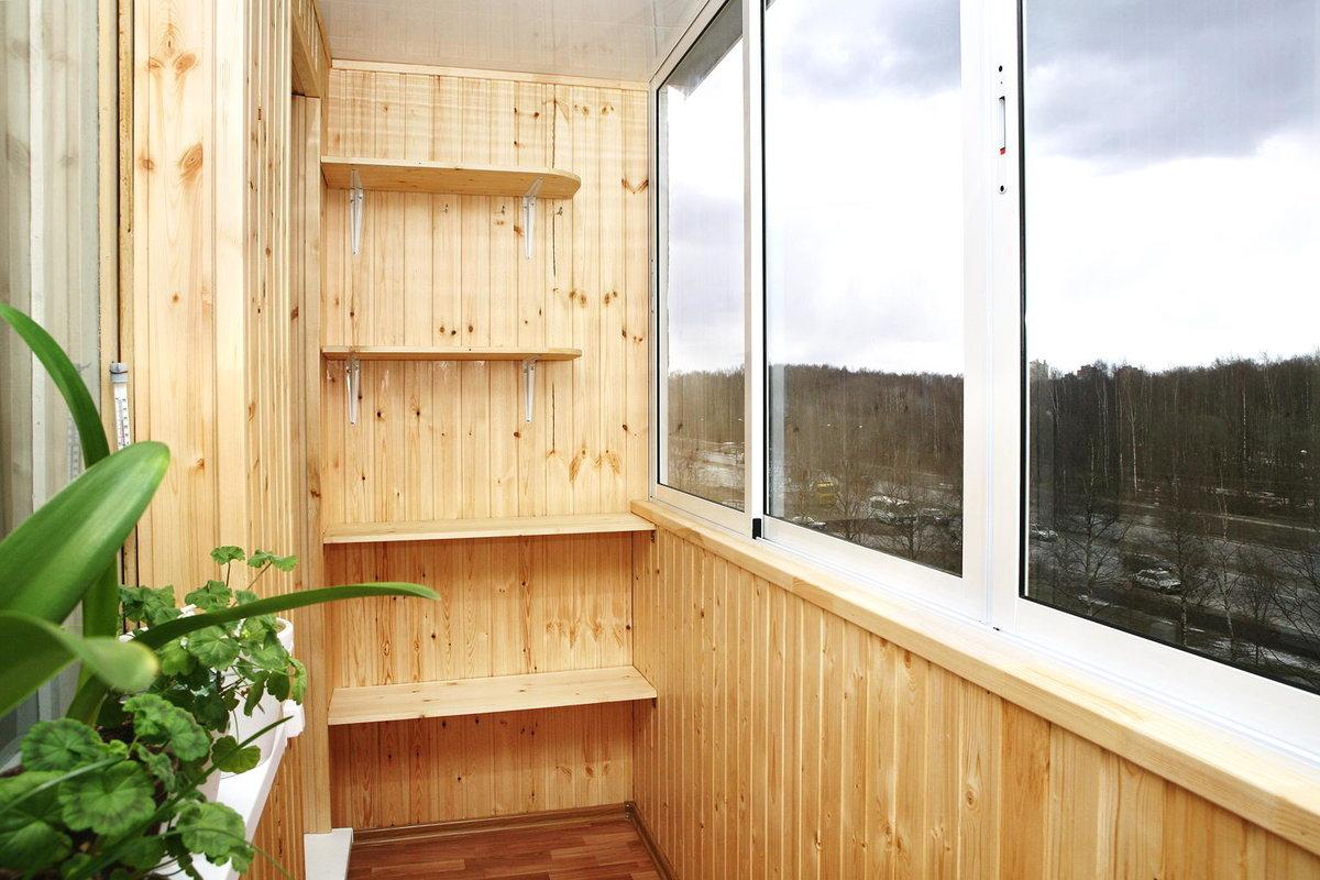 Внутренняя отделка балкона своими руками-фото