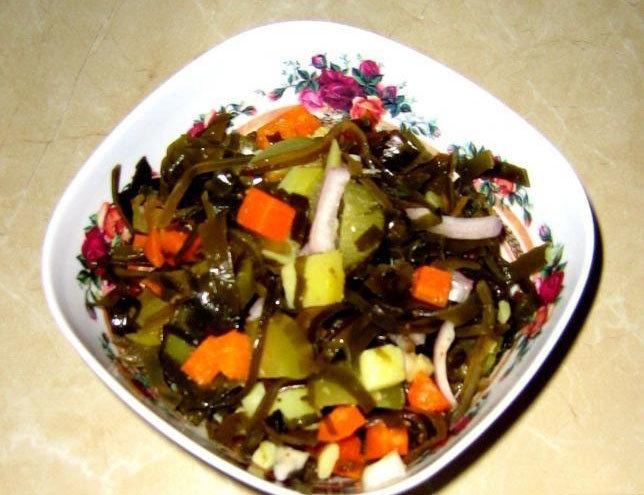 Как приготовить салат из морской капусты ламинарии