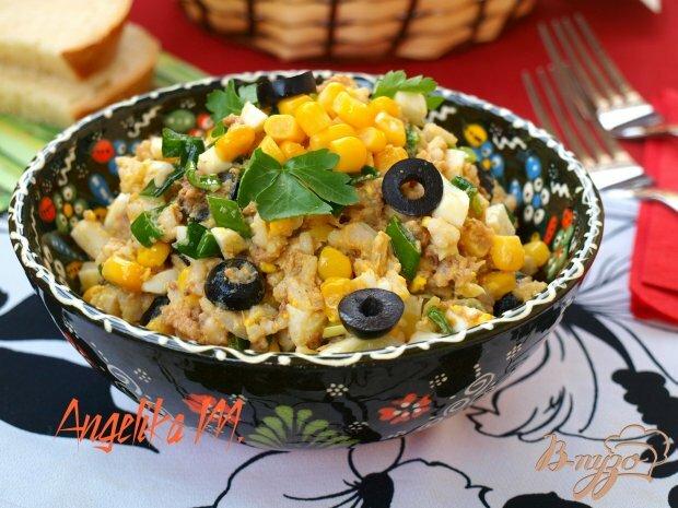 Салаты с рисом и яйцом