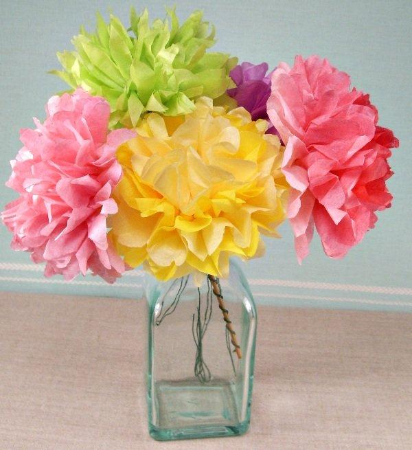Цветочные букеты из бумаги своими руками для дома