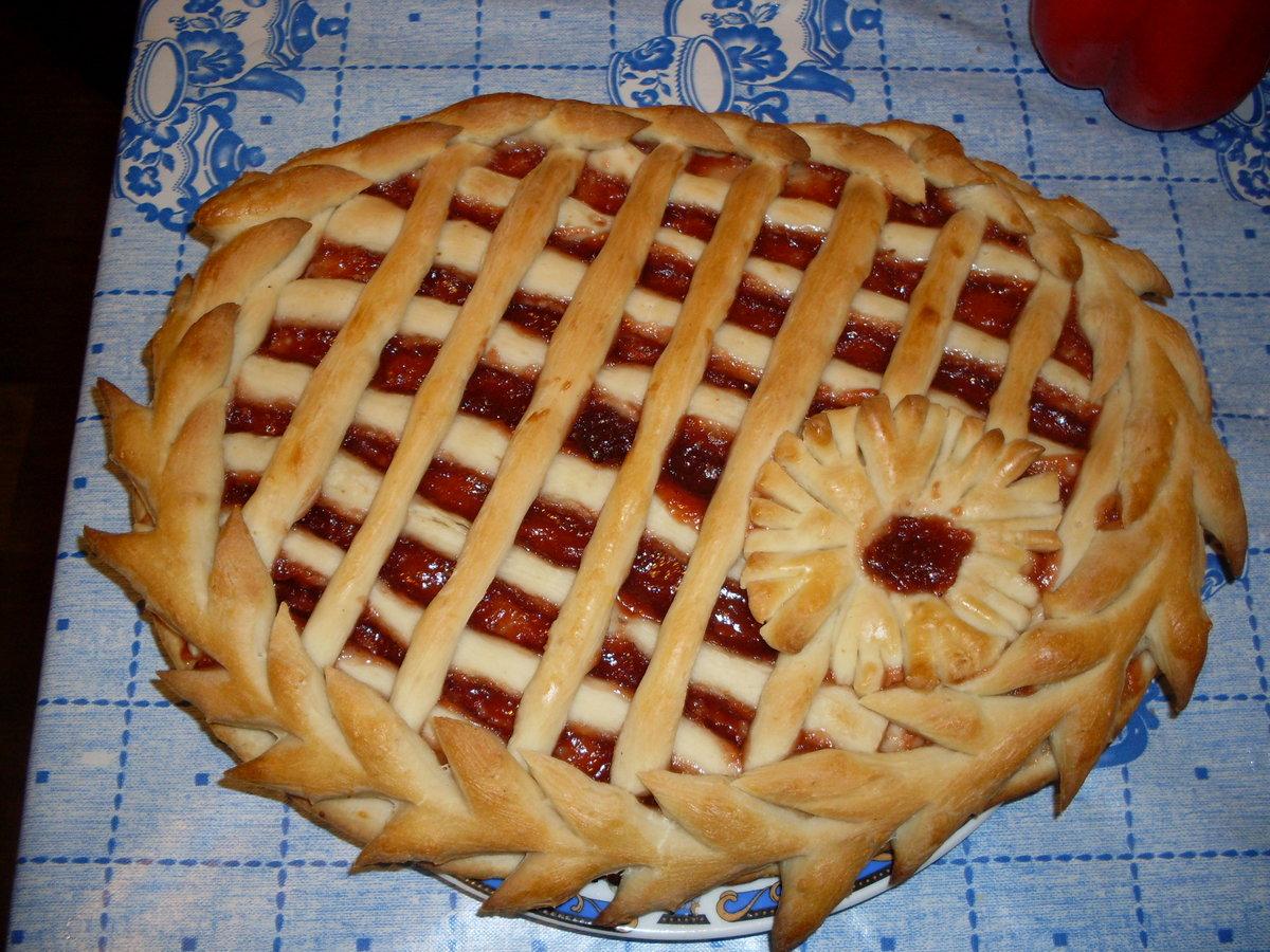 Пирог из готового слоеного теста с вареньем рецепт пошагово