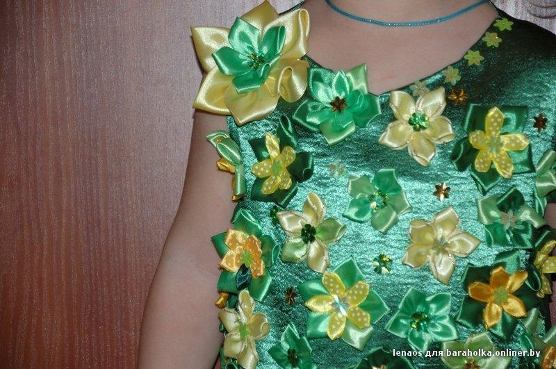 Украсить платье атласными лентами своими руками 32