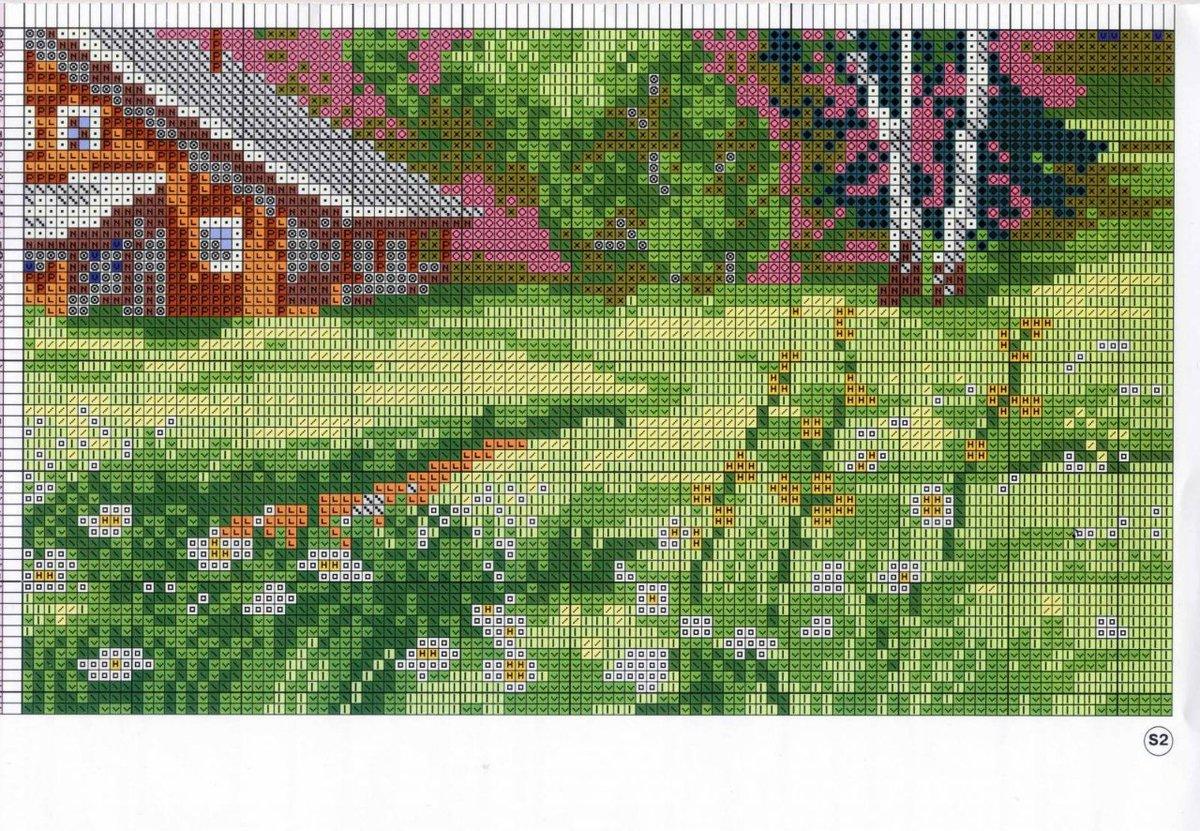 Домик в лесу - Схемы и наборы вышивки бисером крестом 1