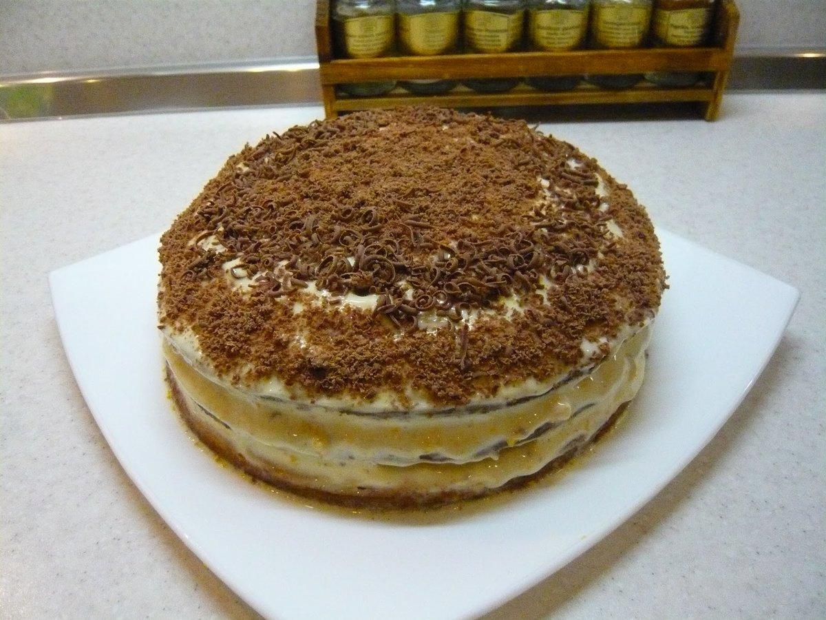 Торт на сметане рецепт пошагово в домашних