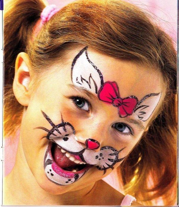 Рисунки на лице для фотографий