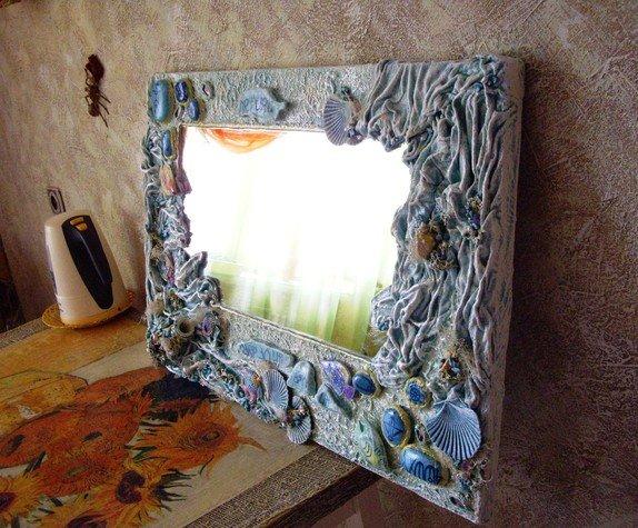 Декор старого зеркала своими руками 48