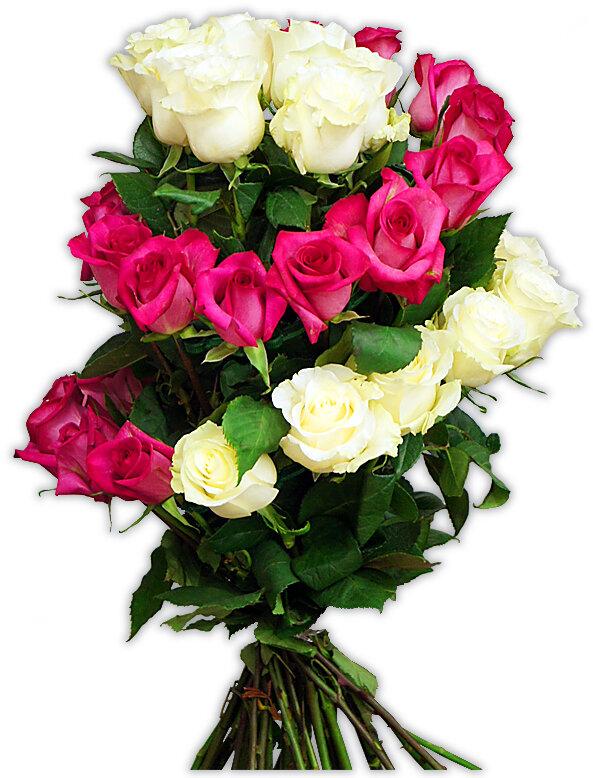Как собрать букет из роз по спирали схема