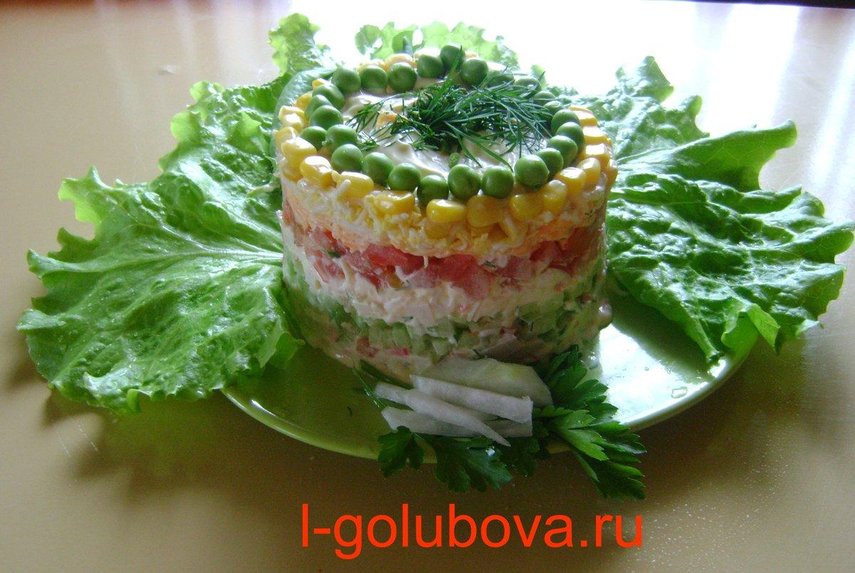 Как украсить салат из крабовых палочек своими руками фото