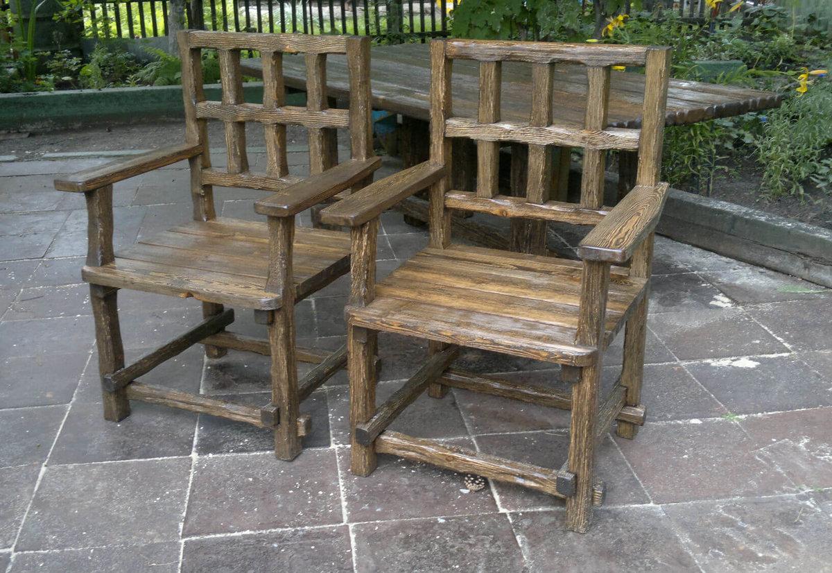 Деревянные стул кресло своими руками 86