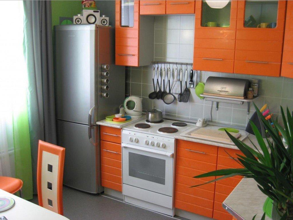 Дизайн маленькой прямой кухни