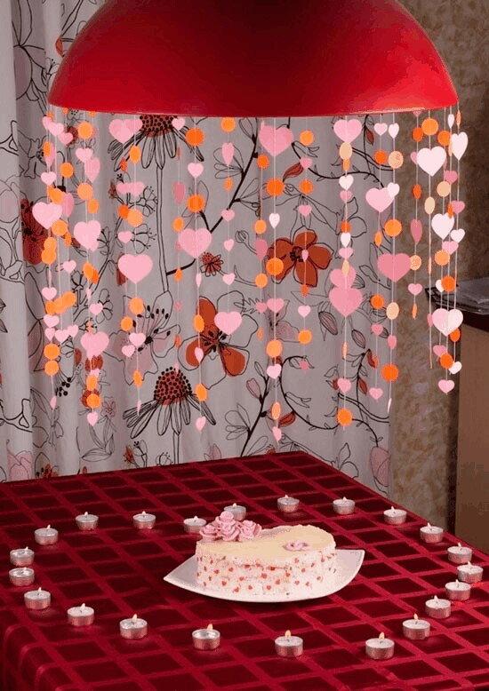 Как украсить комнату своими руками на годовщину свадьбы фото