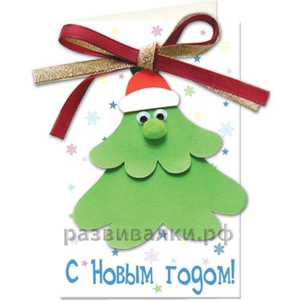 Новогодние открытки новогодние  делаем с детьми