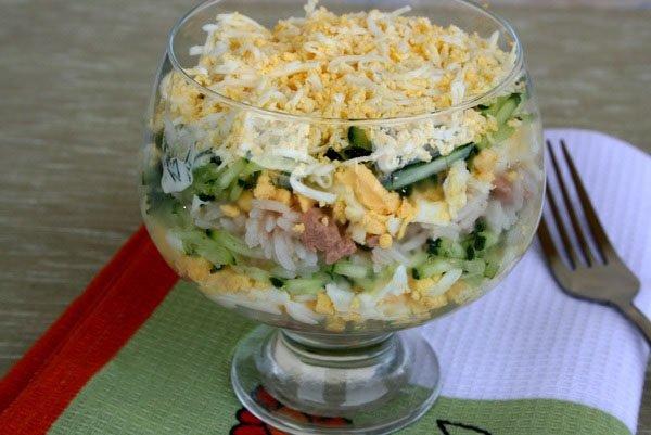 Как приготовить из печень трески салат 121