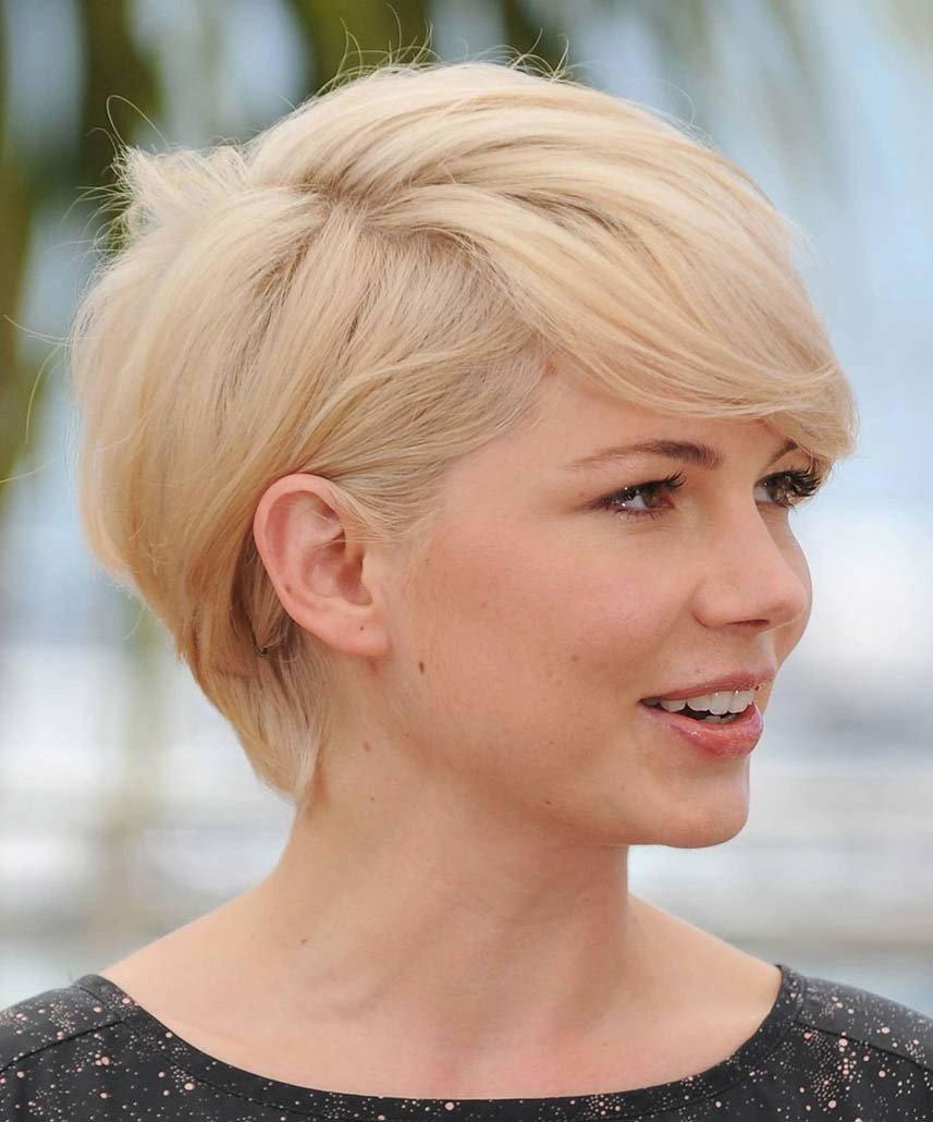 Женская короткая стрижка для блондинок фото