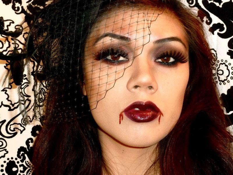 Грим на хэллоуин своими руками вампир видео