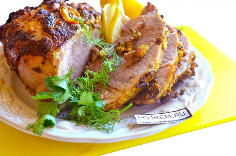 Мясо куском в духовке пошаговый с