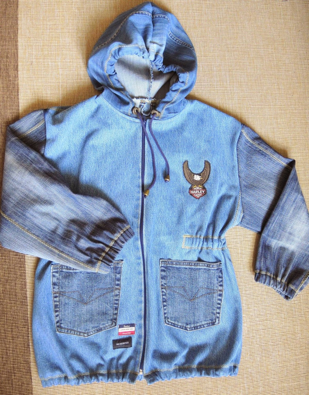 Сшить из джинсов курточку ребенку