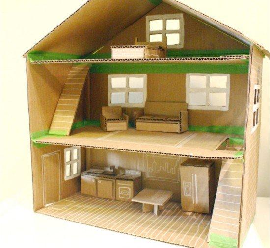 Сделать домик для кукол своими руками пошагово