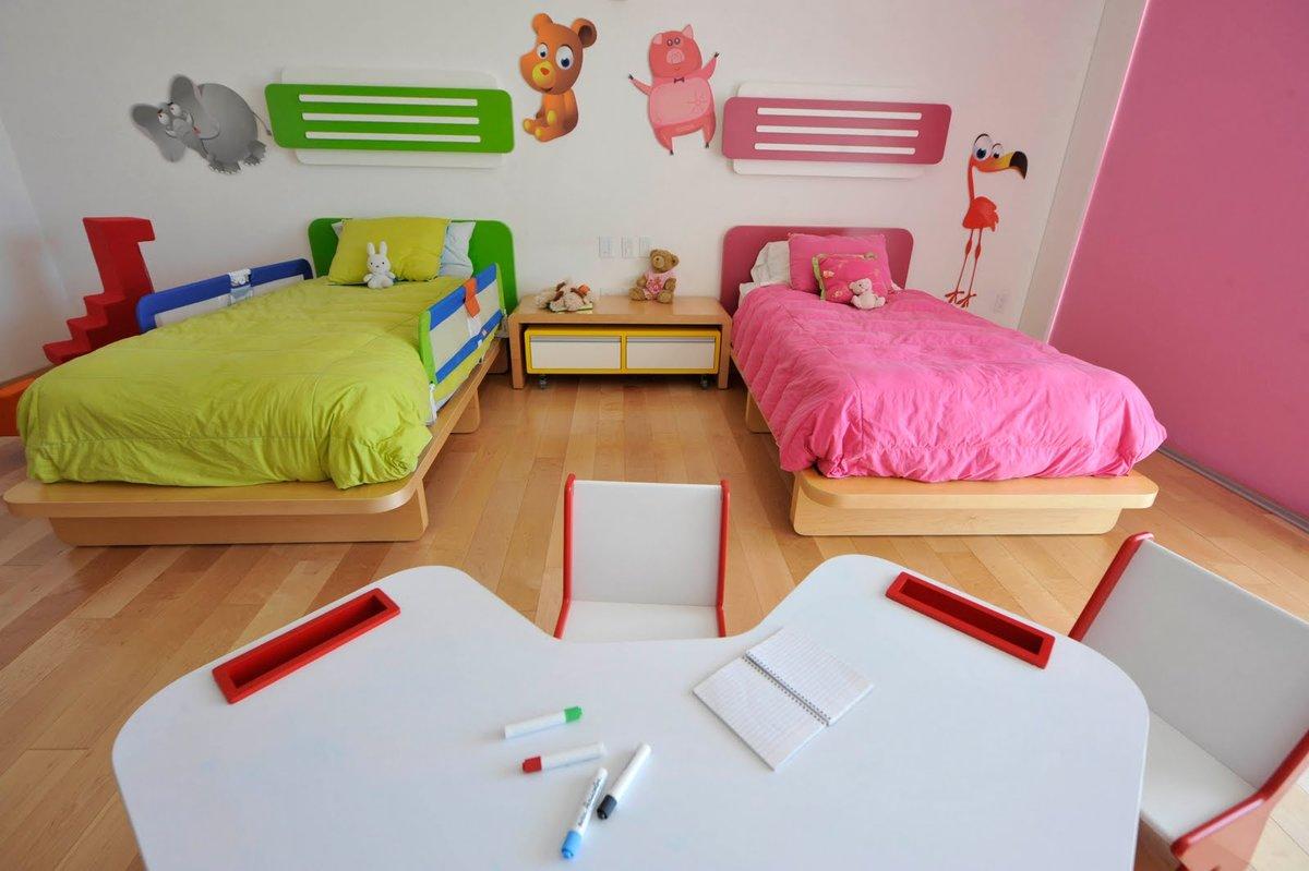Детская комната для двоих детей: варианты планировки и фото 48