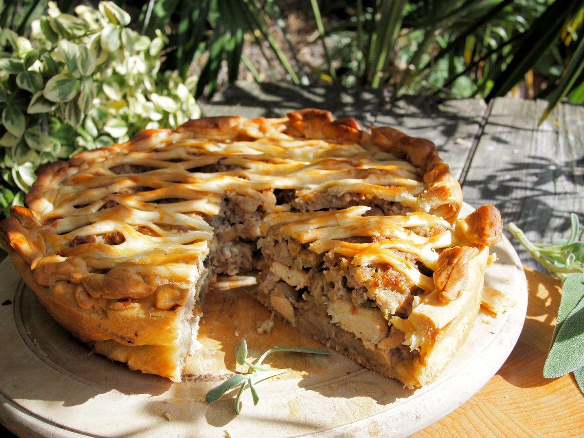 Пирог с грибами рецепт с шампиньонами