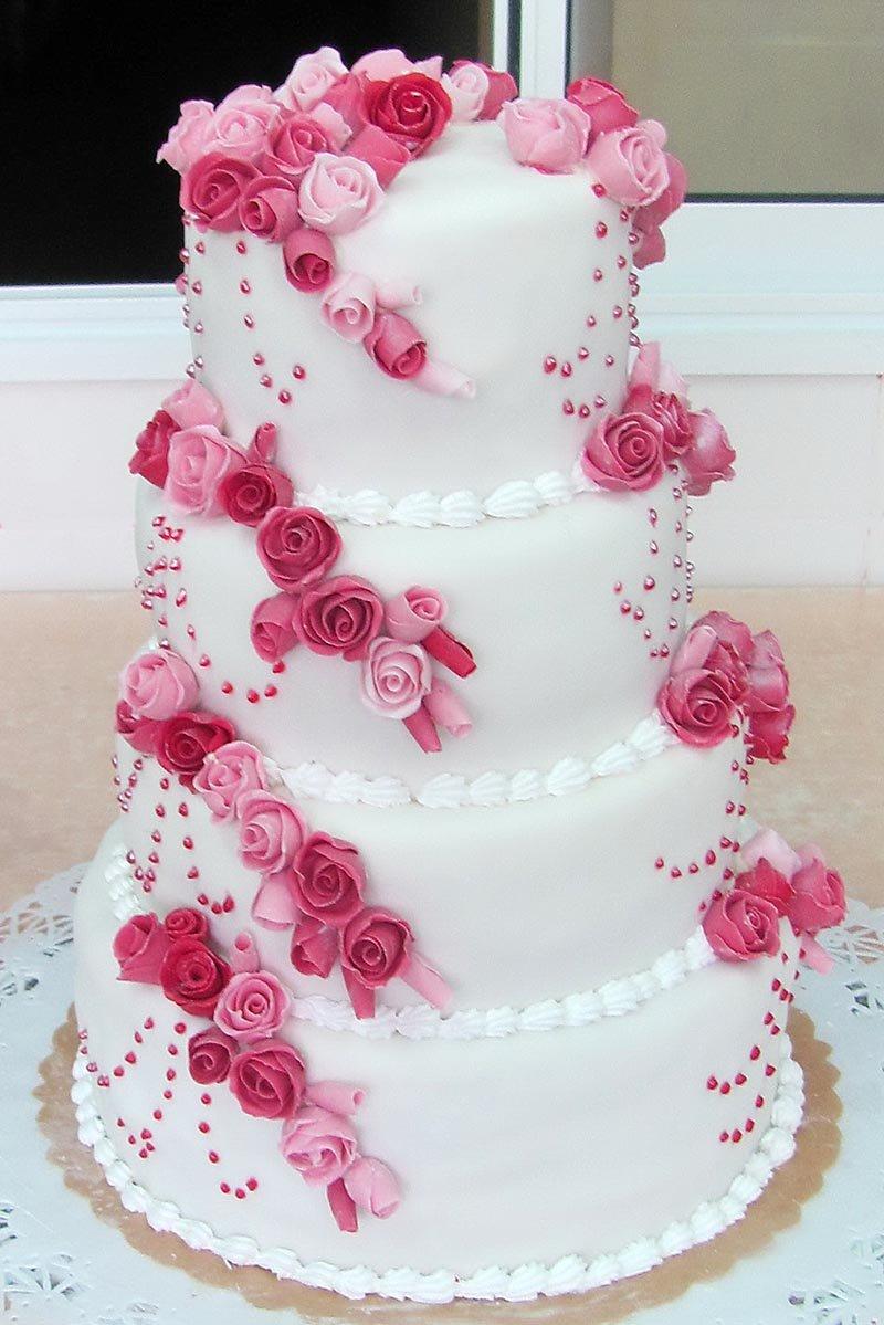 Свадебный торт с мастикой своими руками в домашних условиях