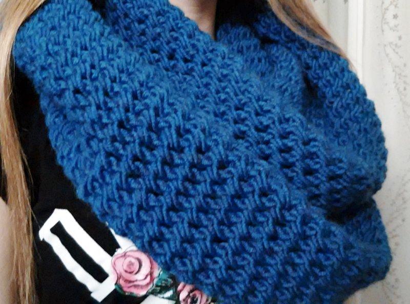 Снут шарф вязать спицами мастер класс
