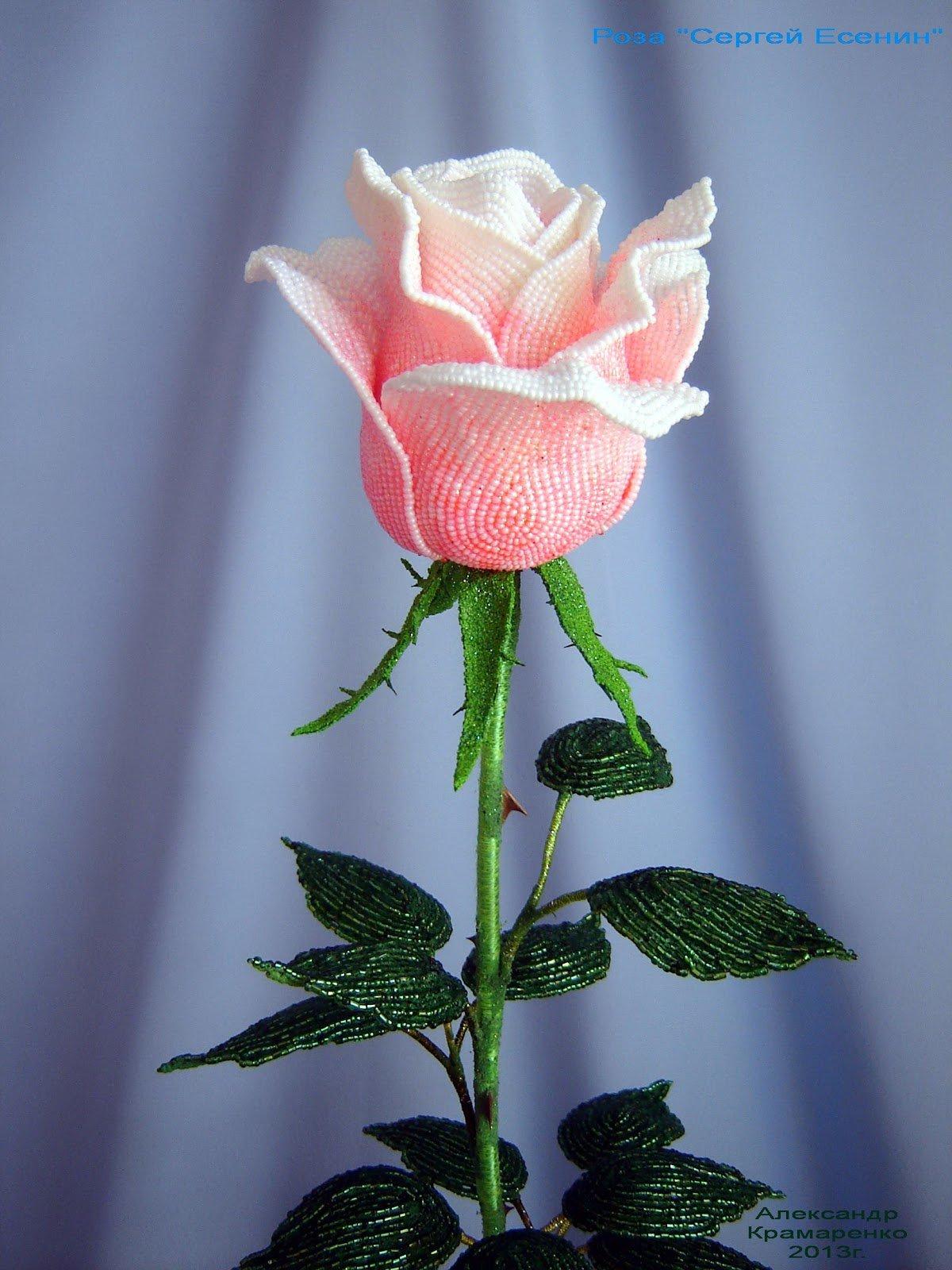 Большая роза из бумаги 53
