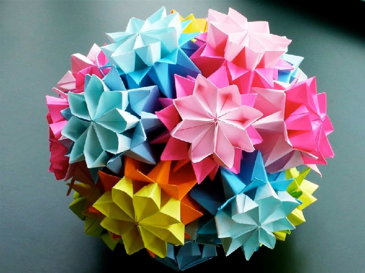 Оригами шар из бумаги своими руками