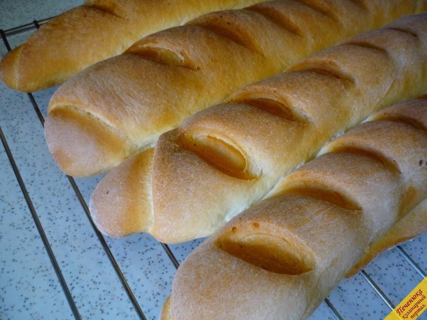 Рецепт багета с пошаговыми