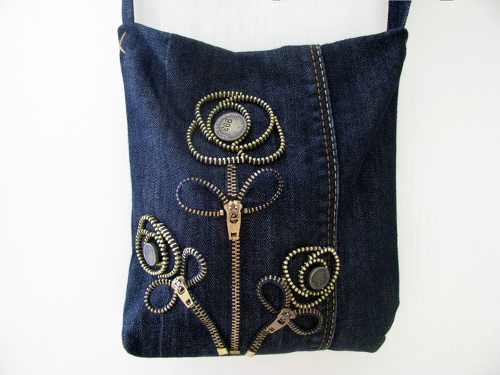 Джинсовая сумка своими руками из ткани фото