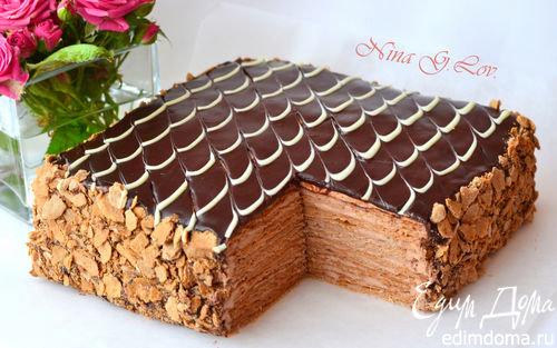 """Торт Наполеон """"Шоколадно-сливочный"""" в Яндекс.Коллекциях"""