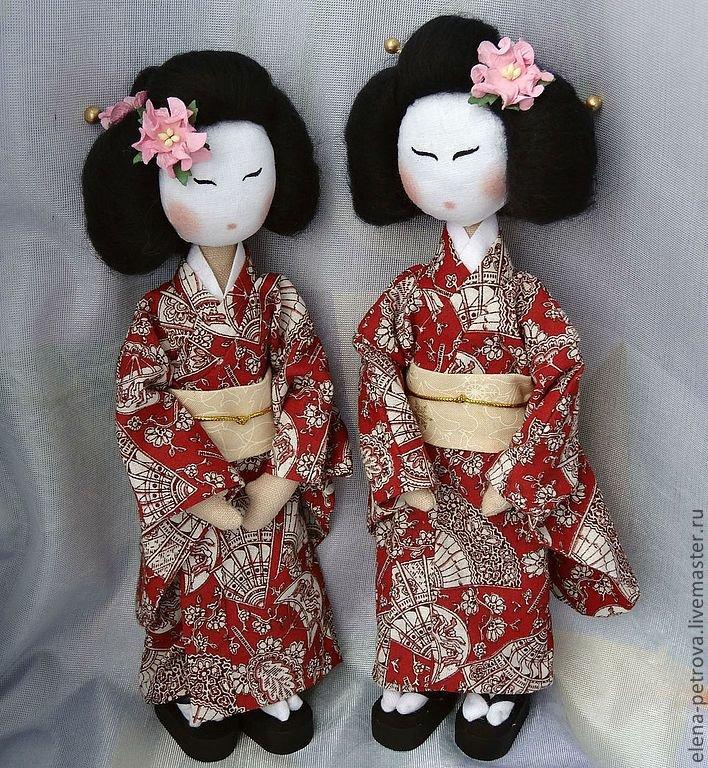 Кукла в японском костюме своими руками