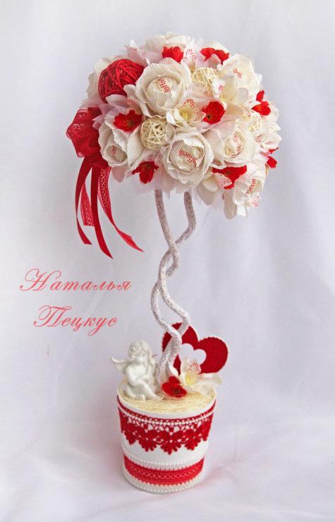 Топиарий на день святого валентина своими руками мастер класс
