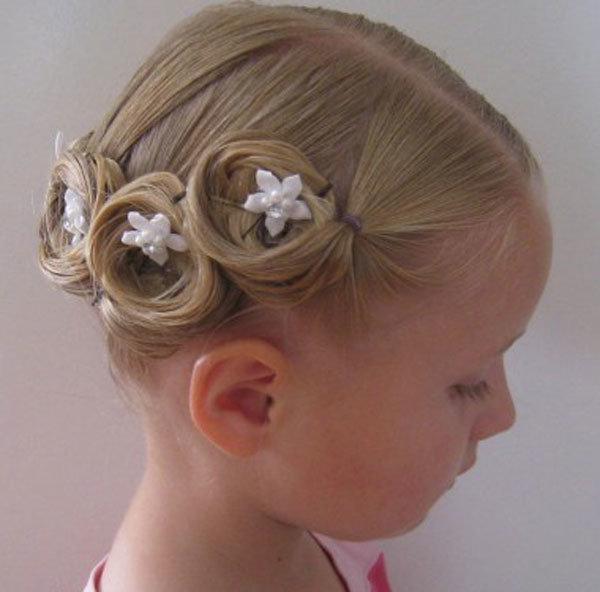 Детская новогодняя причёска на короткие волосы