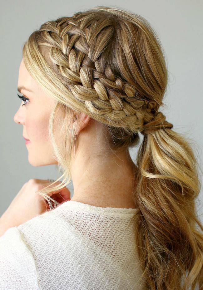 Красивые прически косички на длинные волосы