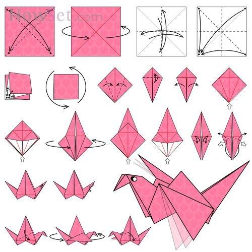 Как сделать птицу из бумаги махает крыльями