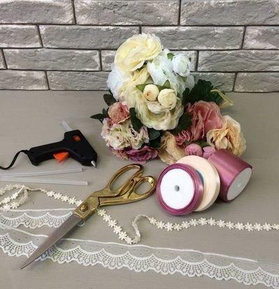 Мастер класс изготовления свадебного букета